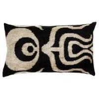 black cushion wavy shapes