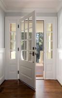 white open front door