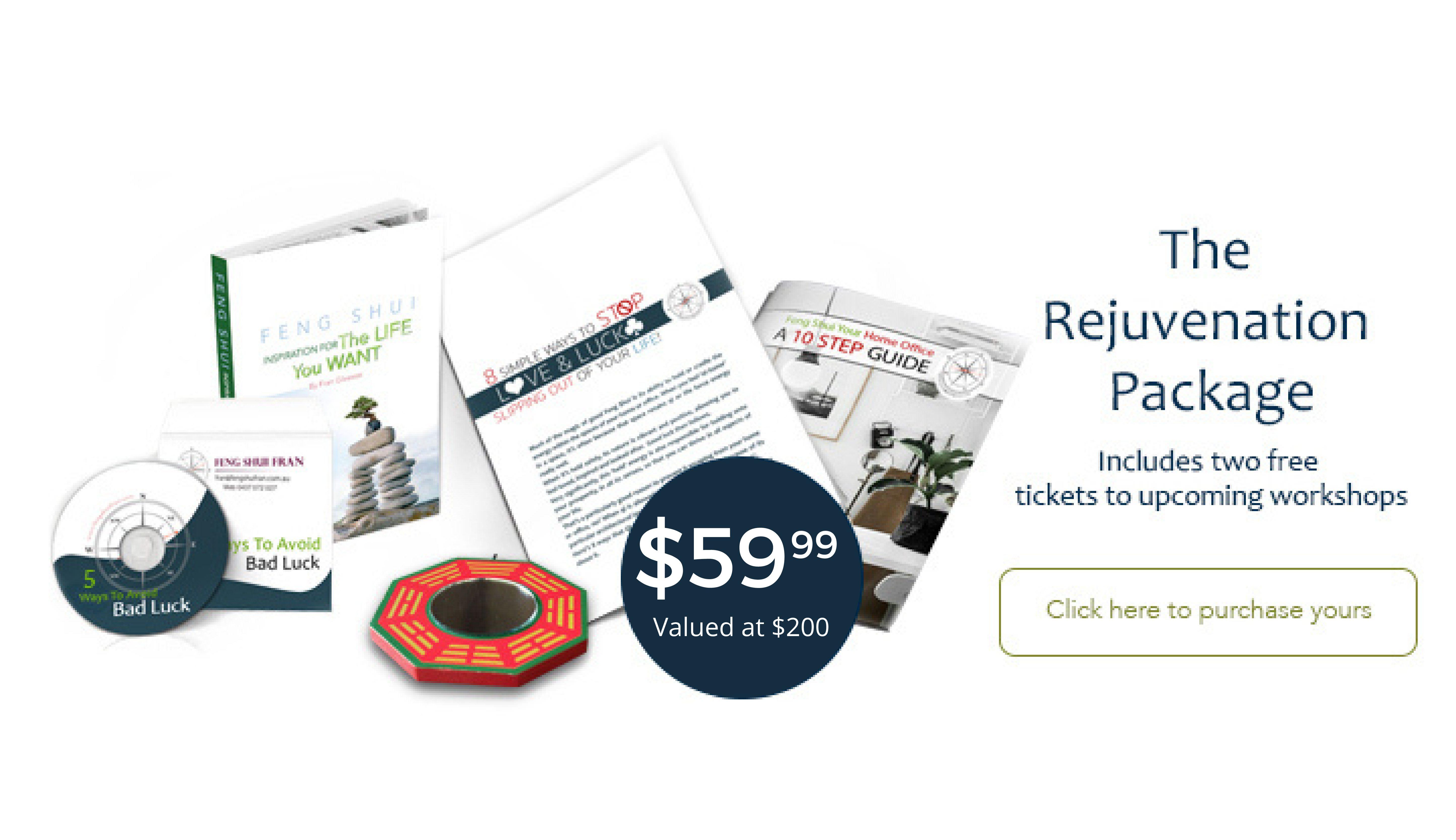 Feng Shui Fran $59.99 Rejuvenation Package